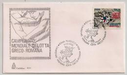 Italie, 1990, Championnat Du Monde De Lutte  Gréco-Romaine, FDC, Roma, 11-10-90 - Lotta
