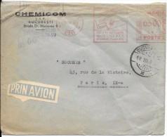 LE11- Lettre De Roumanie Vers La France De 1947 - Marcophilie - EMA (Empreintes Machines)