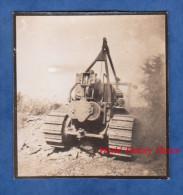 Photo Ancienne - Tracteur / Machine à Identifier - Militaire ? Grue ? Américain ? US ? Chantier Travaux - Automobili