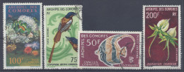 COMORES - 1962-69 -  P. AERIENNE N° 5 - 20 - 23 - 28 - OBLITERES - - Comores (1950-1975)