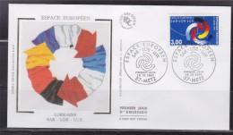 = Espace Européen Sarre-Lorraine-Luxembourg Enveloppe 1er Jour 57 Metz 16.10.97 N°3112 Motif Symbolique - 1990-1999