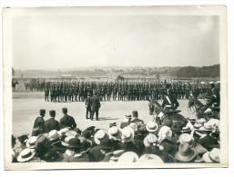 PHOTO ROL 75 LONGCHAMP REVUE 14 JUILLET  DEFILE CHASSEURS 17,8x13cm  Voir Verso - War, Military