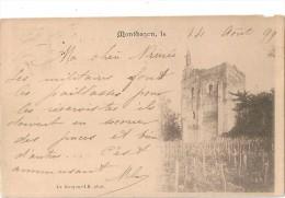 MONTBAZON    (  37  )    Le  DONJON     En  1899    -  AU  VERSO  -  Cachet  Luxembourgeois  - - Montbazon