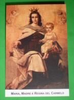 Maria Regina CARMELO Vergine CARMINE - Chiesa Di S.Teresa - Padri Carmelitani Scalzi TORINO - Santino Locale - Santini