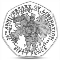 FALKLAND ISLANDS 50 PENCE 25th ANNIVERSARY OF LIBERATION UNC 2007 - Falkland Islands