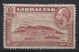 Gibraltar  1931  KG V  (*) MH  Mi.97 A  (p 14 - K 14) - Gibraltar