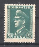 51-969 // CRO - 1943   ANTE PAVELIC -  Mi 145 ** - Croatie