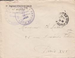 """Versailles - Cachet  """" 81e Regiment D'artillerie Lourde """"  - Sur Lettre à En-tête - Storia Postale"""