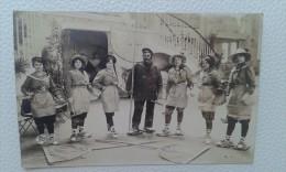 33 - ARCACHON - CARTE PHOTO ORIGINALE - Groupe De Parqueurs - L. NEVEU - Arcachon