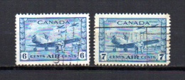 Canadá   1942-43  .-   Y&T  Nº    7/8    Aéreo - Luftpost