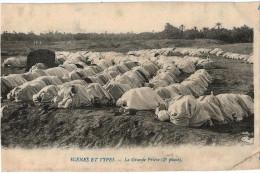 Carte Postale Ancienne D´ALGERIE - LA GRANDE PRIERE 3EME PHASE - Scènes & Types