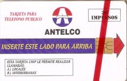 TARJETA DE PARAGUAY DE 30 IMPULSOS DE ANTELCO (NUEVA-MINT) - Paraguay