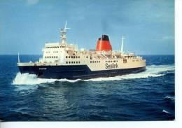 """BAT106 - Car-Ferry """" CHARTRES """" Lignes Du Détroit - SEALINK Ferries  - Société Nationale Des Chemins De Fer Français - Comercio"""