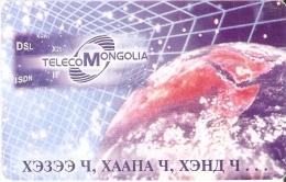 TARJETA CON CHIP DE MONGOLIA DE 300 UNITS DEL GLOBO TERRAQUEO