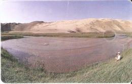 TARJETA CON CHIP DE MONGOLIA DE 150 UNITS DE UN PAISAJE - Mongolia