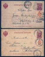 LOT 2 ENTIERS POSTAUX RUSSIE IMPERIALE- CHARLOTTENBURG ET BOLLVILLER- 4K ROSE + TIMBRE N°28 1 K- 1893 ET 1900- 2 SCANS - 1857-1916 Empire
