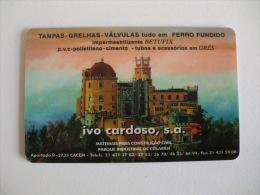 Ivo Cardoso Palácio Da Pena Sintra Portugal Portuguese Plastic Pocket Calendar 2002 - Calendari