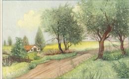 CARTE COLORISEE FANTAISIE Imprimé En BELGIQUE - Petite Maison - ENCH175 - - Fancy Cards