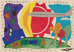 AEROFLOT (USSR / URSS). Advertising Company´s Postcard / Carte Publicitaire De La Compagnie (1965) - Aviación