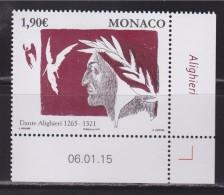 = Série Art 750 Ans De La Naissance De Dante Alighieri, Monaco Timbre Neuf à 1.90€ Daté 06.01.15 N°2974 - Monaco