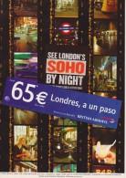BRITISH AIRWAYS. 65 € Londres, A Un Paso (Advertising Postcards / Postales Publicitarias) - Aviación
