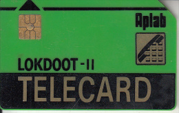INDIA - Aplab Telecard(green-thick Plastic), Chip GEM2, Used - India