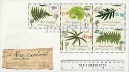 New Zealand - 2013 - Native Ferns - Mint Souvenir Sheet - Ongebruikt