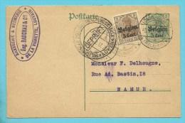Entier Met Stempel LOWEN-LEUVEN, + GEPRUFT LOWEN + Stempel BRASSERIE & MEUNERIE  DE LE VIGNETTE / BAUCHAU - WW I
