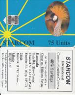 UGANDA - Bird, Gru, STARCOM Blue Card, First Issue 75 Units(reverse B), Used - Ouganda