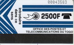 TOGO - Telecom Logo(light Blue), First Issue 2500F, Used