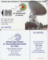 TOGO - Earth Station, First Chip Issue 50 Units(reverse B-CN At Bottom), Used - Togo