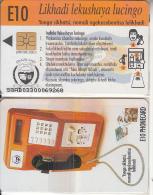 SWAZILAND(chip) - Swaziland Telecom Cardphone, First Issue E10, Chip SO3.1, Exp.date 3/2000, Mint - Swaziland