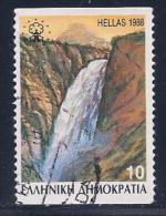 Greece, Scott # 1628a Used Waterfall, 1988 - Greece