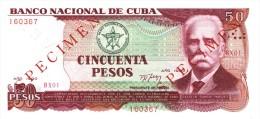 """50 PESOS - """" 1990 """" SPECIMEN - SCARCE UNCIRCULATED ! - Cuba"""