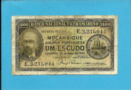 MOZAMBIQUE - 1$00 - 1 ESCUDO - 23.05.1944 - P 92 - ANTONIO ENNES - PORTUGAL - Mozambique