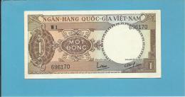 VIET NAM SOUTH - 1 DONG - ND ( 1964 ) - P 15 - SÉRIE W1 - Farm Tractor - VIETNAM - 2 Scans - Vietnam