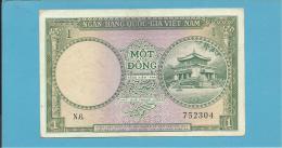 VIET NAM SOUTH - 1 DONG - ND ( 1956 ) - P 1 - SÉRIE N.6. - Temple - VIETNAM - 2 Scans - Vietnam