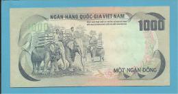 VIET NAM SOUTH - 1000 DONG - ND ( 1972 ) - P 34 - Back BLUE - Série A5 - Palace Of Independence / 3 Elephants - VIETNAM - Vietnam