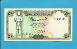 YEMEN ARAB REPUBLIC - 50 RIALS -  ND ( 1994 ) - P 27.A -  Sign. 9 - UNC. - Central Bank Of Yemen - 2 Scans - Yemen