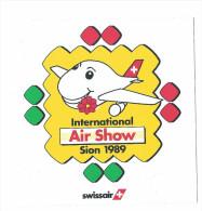 Air Show Sion 1989 -aviation - Avion - Swissair - Flugzeug - Airplane - Autocollants