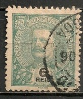 Timbres - Portugal - Inde Portugaise - 1903-1911 - 6 Reis - - Inde Portugaise