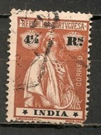 Timbres - Portugal - Inde Portugaise - 1914 - 4 1/2 Reis - - Inde Portugaise
