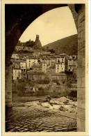 Carte Postale Ancienne Roquebrun - La Tour Carolingienne - France