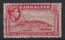 Gibralter 1938-44  KGVI  1 1/2d  (o)  Mi.109 B - Gibraltar