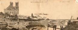 Mantes Panoramique, La Seine Et Les Quais. (Péniches) - Mantes La Jolie