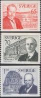 Sweden 1974 Nobel Prize Laureates 1914 Winners Famous People Sciences Stamps MNH SG 828-30 Sweden 886-888 - Nobelpreisträger