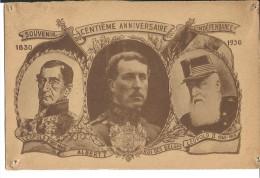 ! - Belgique - Léopold 1er, Léopold II Et Albert 1er - 100 Ans Indépendance De La Belgique - Familles Royales