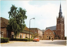 Den Dungen: SIMCA 1000 - Slagerij, Bosscheweg Met R.K. Kerk St. Jacobus De Meerdere - (Holland) - PKW