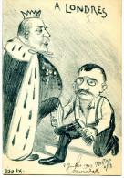 """7156 - Delcass� cire les """"pompes"""" du roi d'Angleterre, attaque de l'entente cordiale, illust. de Rostro, tirage limit�"""