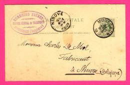 """Entier Postal - De Mouscron à Ninove - Cachet """" Transport GONDRAND FRERES Mouscron """" - 1889 - 5 Centimes - Postkaarten [1871-09]"""